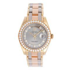 Rolex Yellow Gold Diamond Dial Tridor Special Edition Myriad Wristwatch