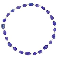 Jona Tanzanite Blue Sapphire Diamond Gold Necklace