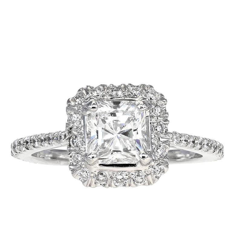 1.03 Carat GIA Cert Radiant Cut Diamond Gold Ring