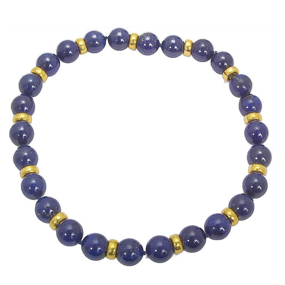 Colleen B. Rosenblat Stunning Lapis Lazuli Gold Necklace