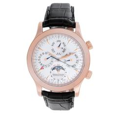 Jaeger-LeCoultre Rose Gold Master Grande Memovox Automatic Wristwatch