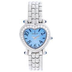 Corum Lady's Stainless Steel Heart Shaped Diamond Quartz Wristwatch