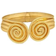 Lalaounis Gold Hinge Bracelet