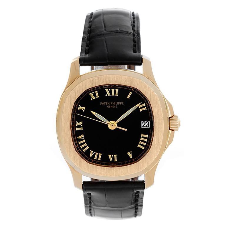 patek philippe yellow gold aquanaut automatic wristwatch