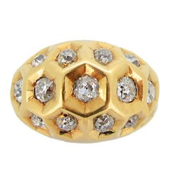 Diamond Set Honeycomb Ring by Cartier, Paris, circa 1944