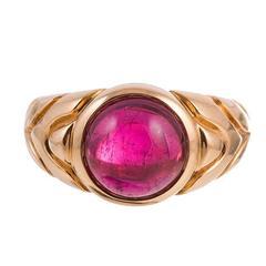 Bulgari Rubellite Gold Ring