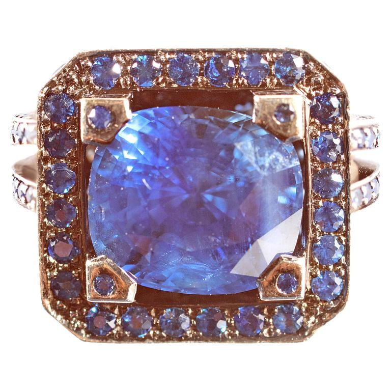 """Solange 6.00 ct Blue Sapphire Gold """"Cup"""" Ring 1"""