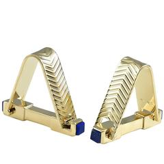 Large Around-the-Cuff Gold Cufflinks