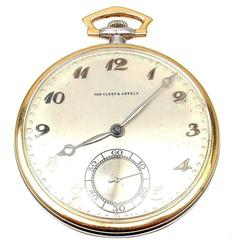 Van Cleef & Arpels Tissot Yellow and White Gold Pocket Watch