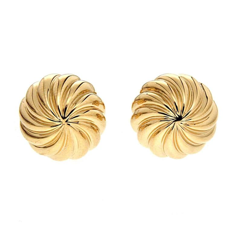 Valentin Magro Gold Fluted Swirly Cufflinks