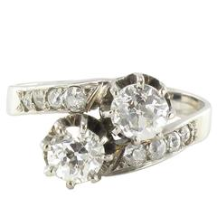 Antique Diamond Gold Lover's Ring
