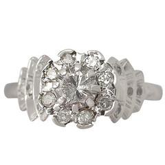 1950s Diamond and Platinum Cocktail Ring