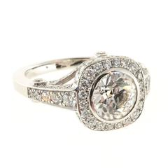 Peter Suchy Old European Cut Diamond Platinum Ring