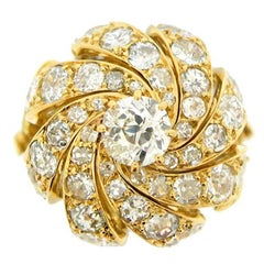 Sterle of Paris Diamond Cocktail Ring, circa 1970