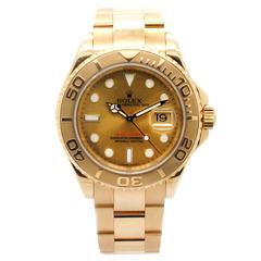 Rolex Yellow Gold Yachtmaster Champagne Dial Automatic Wristwatch Ref 16628 2006