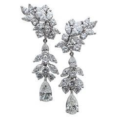 Diamonds Chandelier Earrings 19.00ct