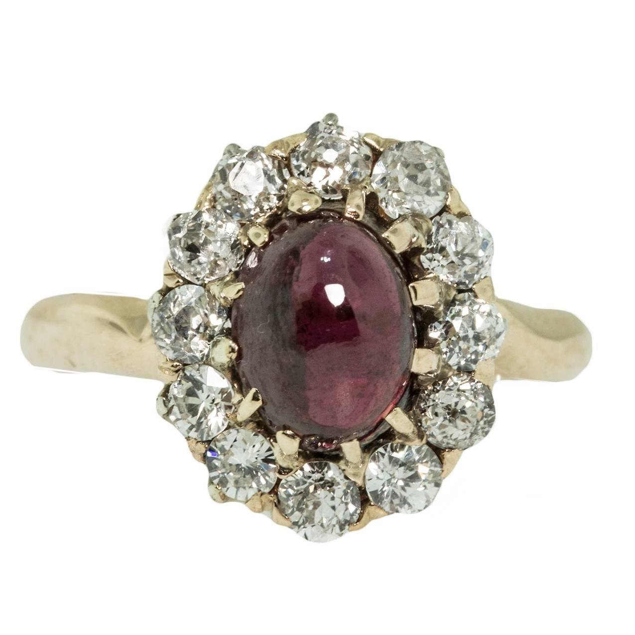 antique garnet gold ring for sale at 1stdibs