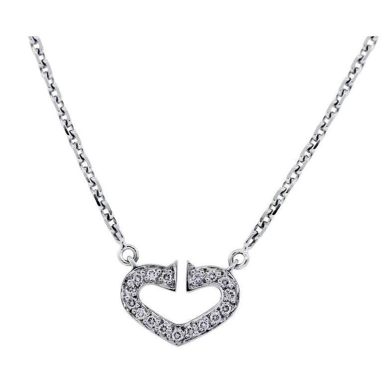 Cartier Cœur C de Diamond Gold Heart Necklace