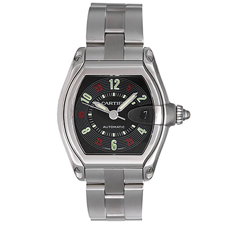 Cartier Stainless Steel Roadster Automatic Wristwatch Ref W62002V