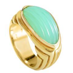 Bulgari Chrysoprase Gold Ring