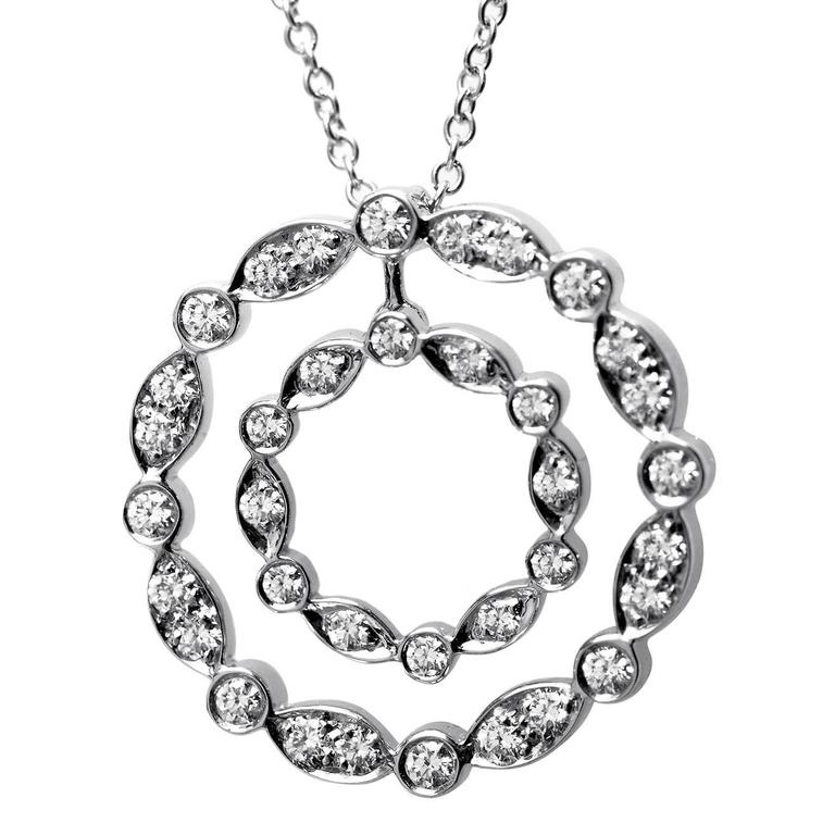 Tiffany & Co. Diamond Platinum Pendant Necklace For Sale