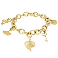 Diane von Furstenberg by H. Stern Talisman Gold Charm Bracelet