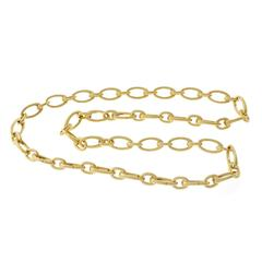 Tiffany & Co. Solid Gold Link Clasp Necklace
