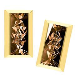 Atelier Munsteiner Reflective Smoky Quartz Gold Mantis Earrings