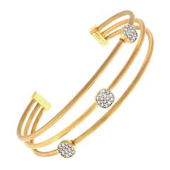 Isaac Reiss Diamond Gold Cuff Bracelet