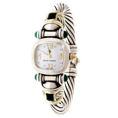 David Yurman Yellow Gold Silver Cable Quartz Wristwatch