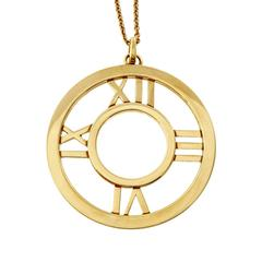 Tiffany & Co. Gold Round Atlas Pendant