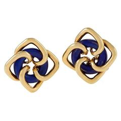 Tiffany & Co. Mid-20th Century Lapis Lazuli and Gold Earrings