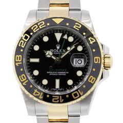 Rolex Stainless Steel GMT-Master II Ceramic Bezel Automatic Wristwatch