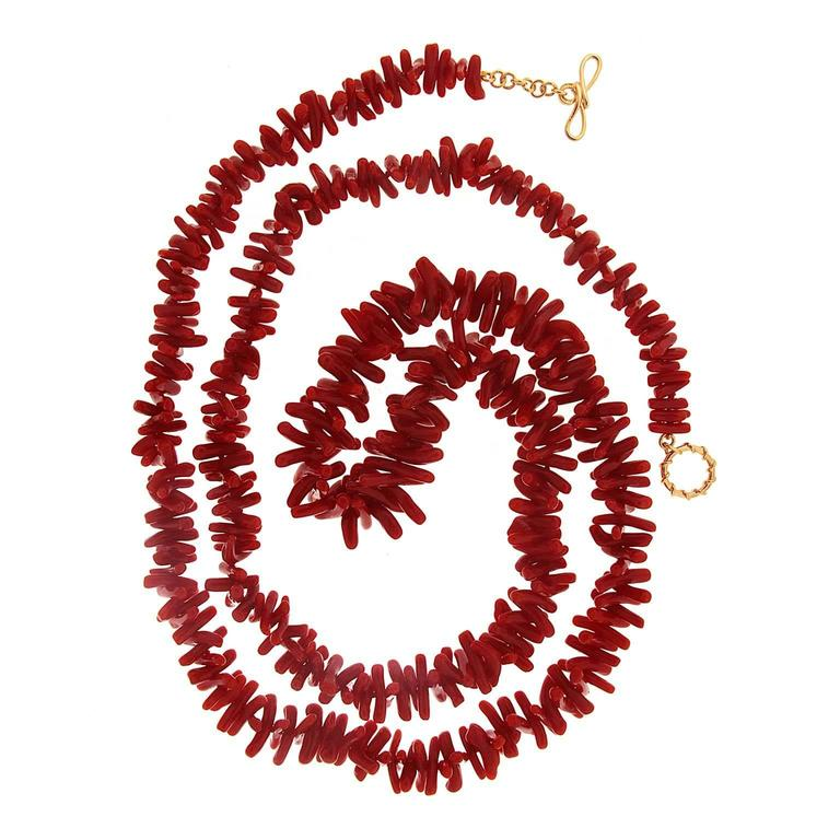 Single Strand Coral Branches Necklace