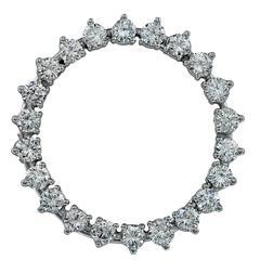 3.00 Carats Diamonds Gold Brooch