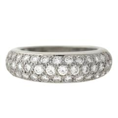 Cartier French Classic Diamond Pave Platinum Ring