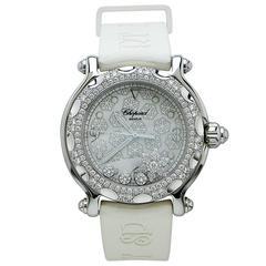 Chopard Stainless Steel Diamond Snowflake Quartz Wristwatch Ref 288946