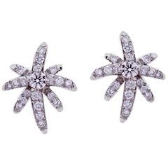 Tiffany & Co. Diamond Platinum Fireworks Earrings