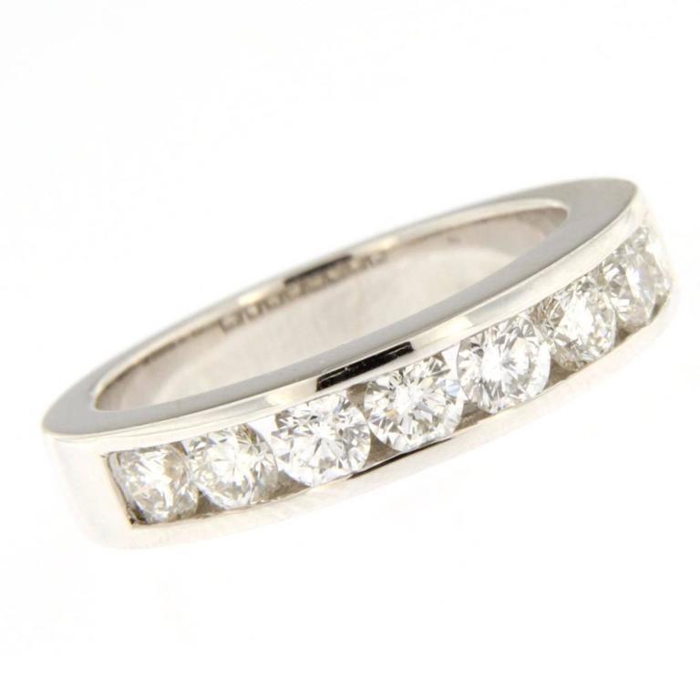 Jona White Diamond 18 Karat White Gold Eternity Band Ring
