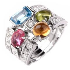 Bulgari Allegra Multi-Gem Diamond Gold Bvlgari Ring
