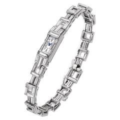 Cartier Lady's Platinum Bracelet Wristwatch