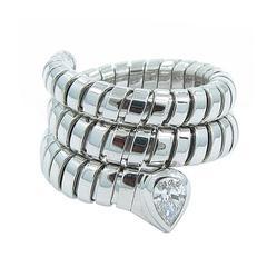 Bulgari Tubogas Diamond Gold Snake Ring