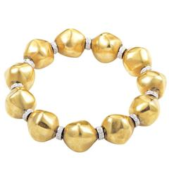Diamond Gold Bead Bracelet