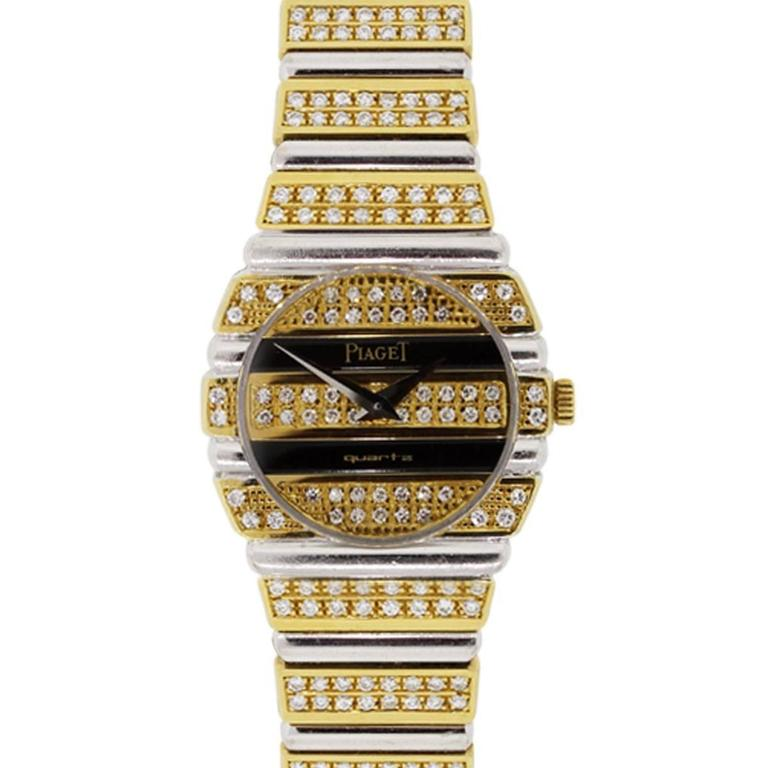 Piaget Lady's Yellow and White Gold Diamond Quartz Wristwatch