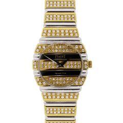 Piaget Lady's Yellow and White Gold Diamond Quartz Wristwatch