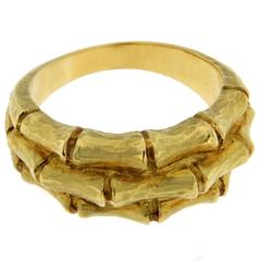 Jona Bamboo Gold Band Ring