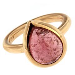 Jona Pink Tourmaline Gold Ring