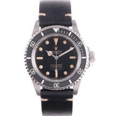 "Rolex Stainless Steel ""Four Line Gilt Dial"" Submariner Wristwatch Ref 5512"