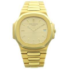 Patek Philippe Yellow Gold Nautilus Wristwatch Ref 3700
