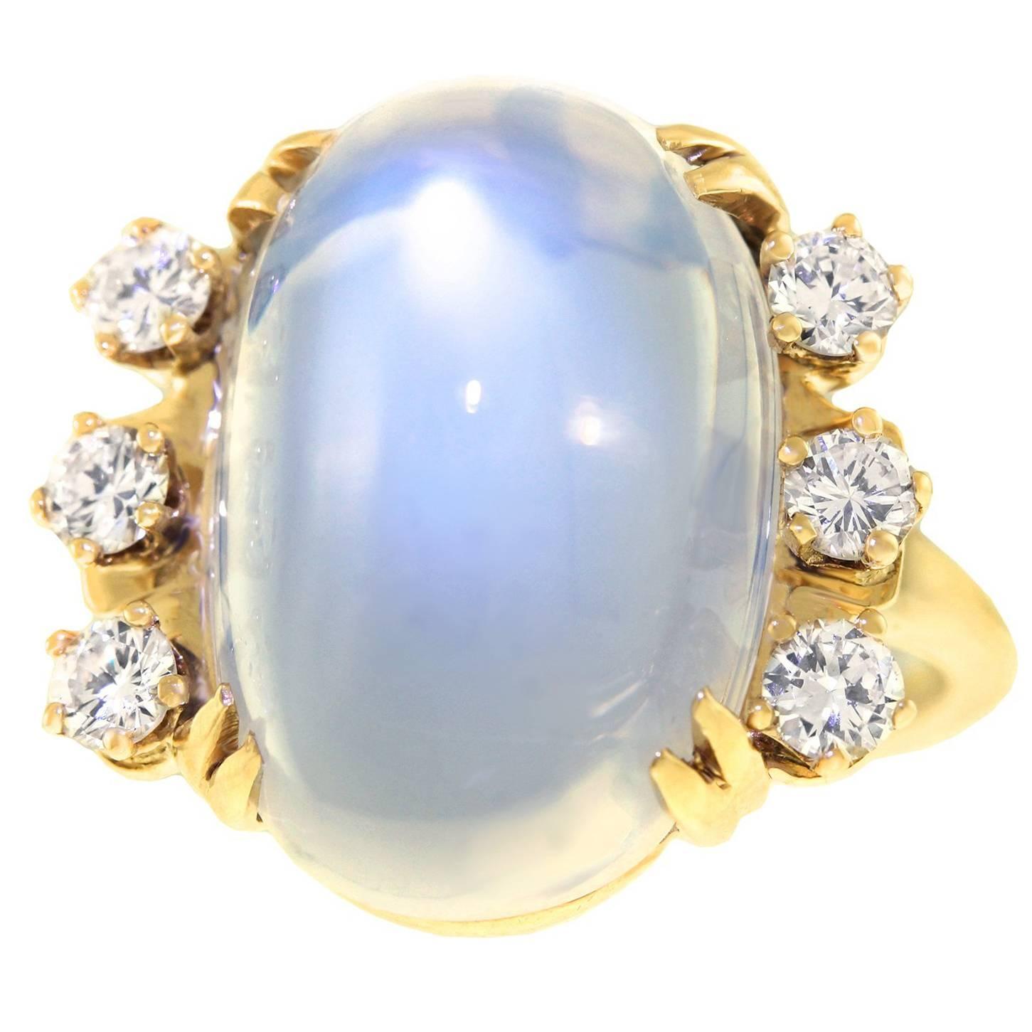 f u0026 f felger art deco gold ring set with carat moonstone